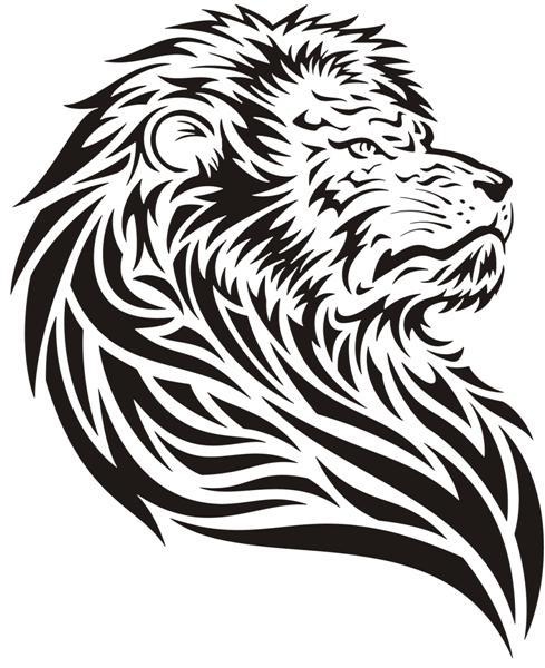 Pochoir lion an701 lion tatoo15