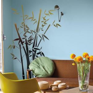 Pochoir mural bambous mon artisane