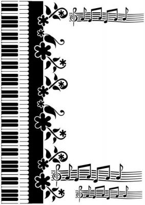 Piano portée de musique