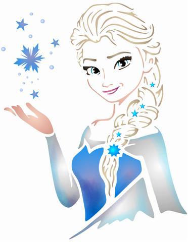 Pochoir reine des neiges