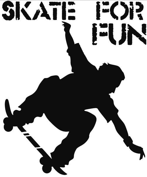 Pochoir skate board