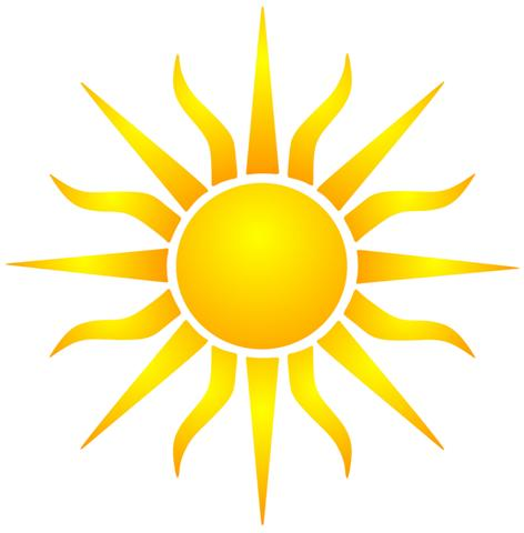Pochoir soleil
