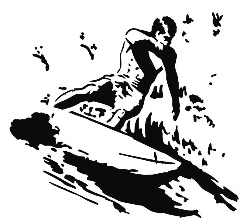 Pochoir surfeur monartisane