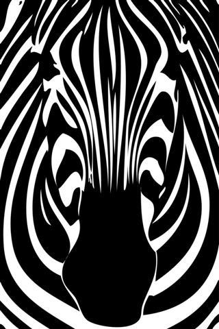 Pochoir tete de zebre de face