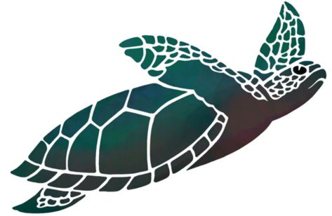 Pochoir tortue marine a peindre mon artisane