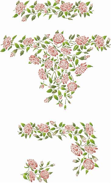 Pochoirs roses en kit promo style pochoir mon artisane