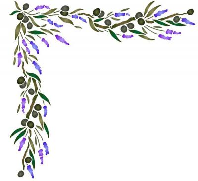 Angle olives et lavande