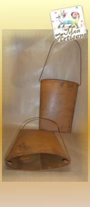 Recipient en metal vintage effet rouille mon artisane
