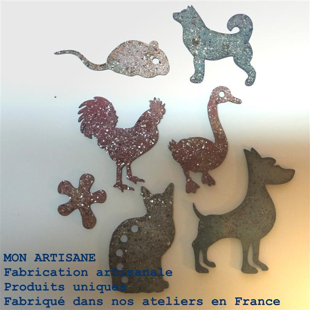 Srapbooking decors bois animaux 6 small