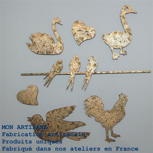 Srapbooking decors bois oiseaux oies 4 small