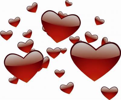 Stickers détourés coeurs rouges
