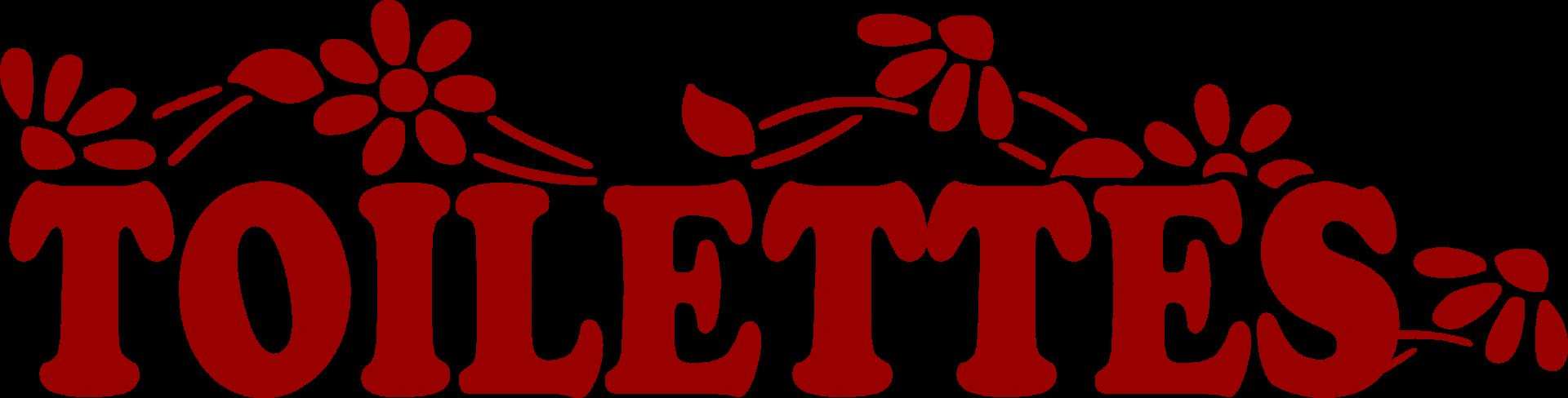 Toilettes fleurs sticker rouge