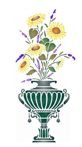 Vase bouquet tournesollavande small