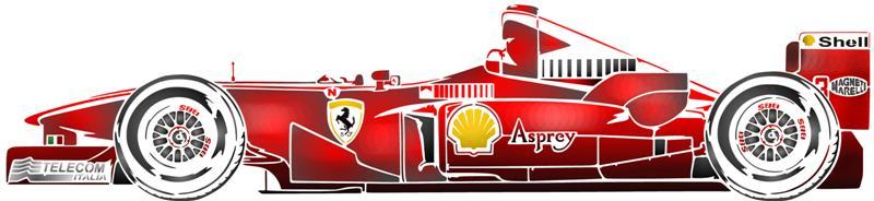 Pochoir ferrari formule 1 voiture de course en plastique - Photo voiture de course ferrari ...