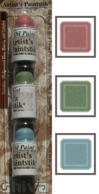3 mini sticks mauve, vert clair, bleu clair