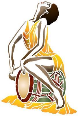 Femme tambour