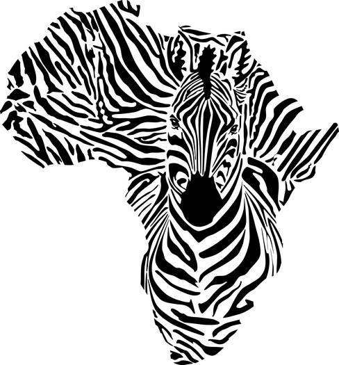 Afri4001 pochoir zebre carte afrique mon artisane