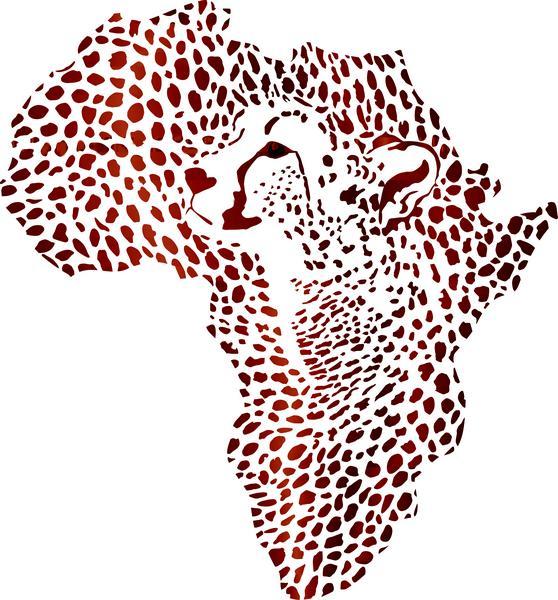 Afri4004 pochoir acrte afrique leopard 2 mon artisane