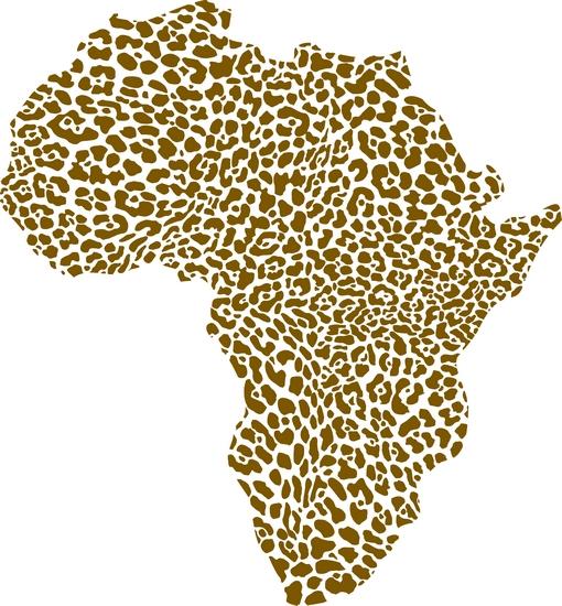Afri40789 pochoir carte afrique leopard mon artisane