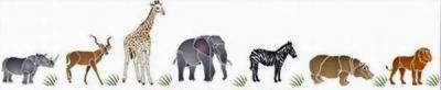 Frise animaux d'Afrique
