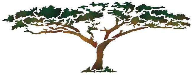 Afric30 arbre de la savane pochoir