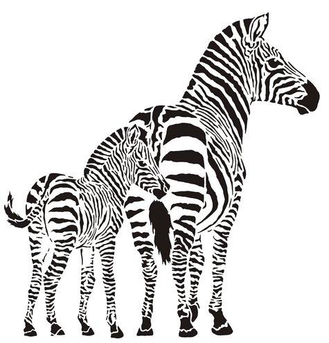 Afric394 zebres pochoir mon artisane