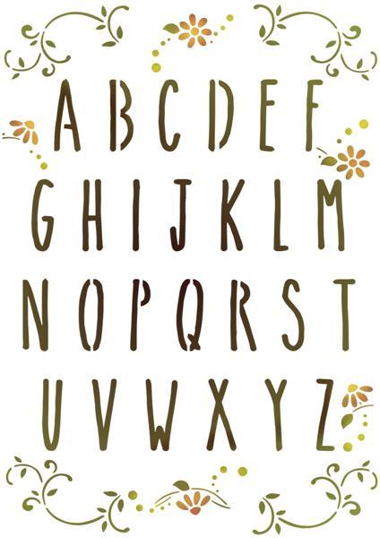 Alph3014 skinny abecedaire pochoir alphabet mon artisane style pochoir