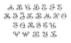 Monogramme Lettrines