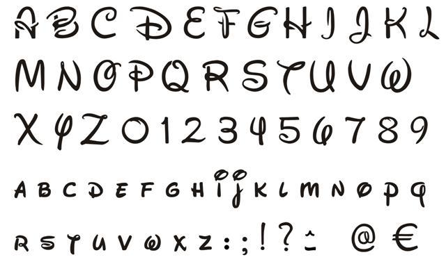 Alphabet walt disney small