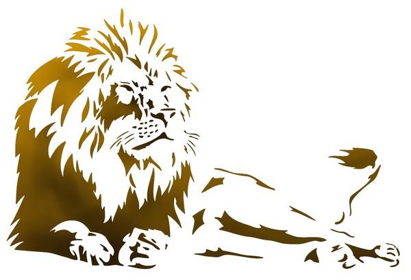 An204 pochoir lion 2