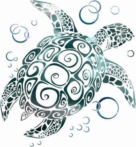 An3009 tortue marine pochoir mon artisane