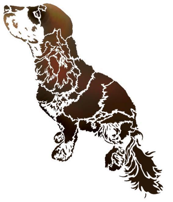 An3580 pochoir chien cocker de cote
