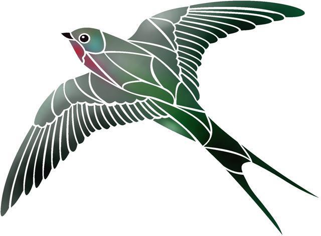 An48715 hirondelle oiseau en vol