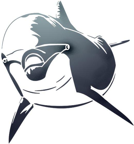 An6006 pochoir dauphin vu de face mon artisane