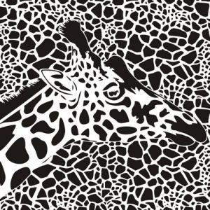An654783 girafe taches peau de girafe pochoir