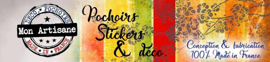 Banniere mon artisane pochoirs stickers decoration bucquoy
