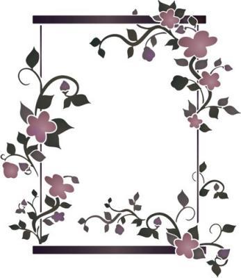 Cadre fleuri rectangulaire