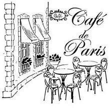 Cafe de paris pochoir vintage