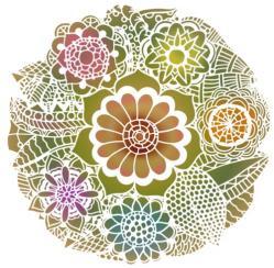 Rosace fleurie mandala