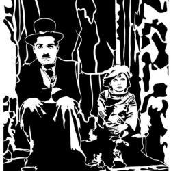 Pochoir Charlie Chaplin