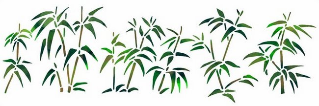 Chin10 frise de bambous style pochoir mon artisane