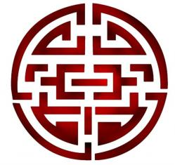 Cercle  chinois rouge