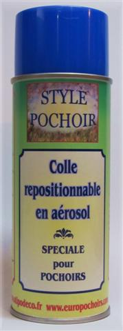 Colle repositionnable pochoirs