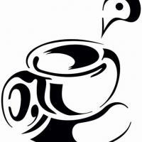 Cui2222 pochoir cuisine tasse cafe the 1 small