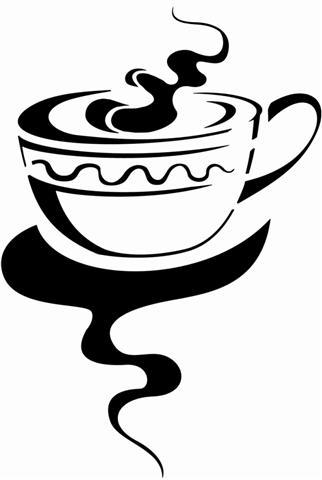 Cui2226 pochoir cuisine tasse cafe the 5 small