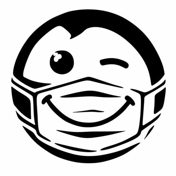 D2154 emoticone masque a peindre