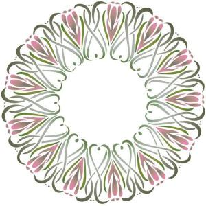 D51003 pochoir rosace coeurs tulipes baroque mon artisane 2