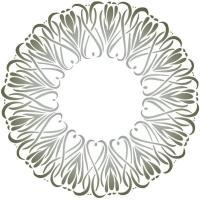D51003 pochoir rosace coeurs tulipes baroque mon artisane