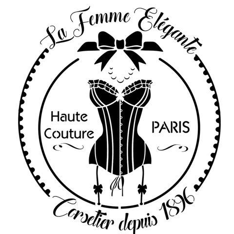 Div033255 corsetier la femme elegante paris pochoir small