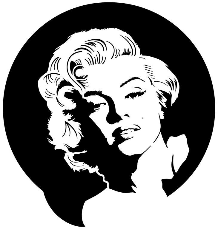 Div1998 marilyne monroe portrait 2 monartisane style pochoir